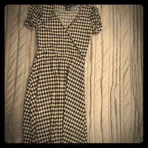 Houndstooth pattern dress